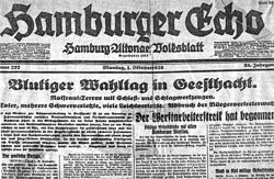 """Zeitungsbericht über den """"Schlacht am Runden Berg"""""""