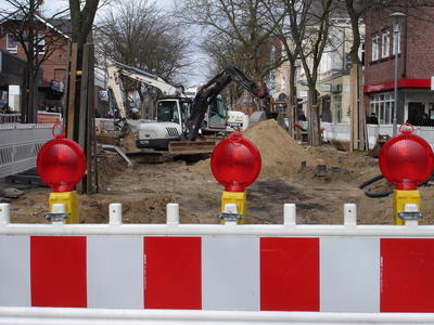 Fußgängerzone - Baustelle
