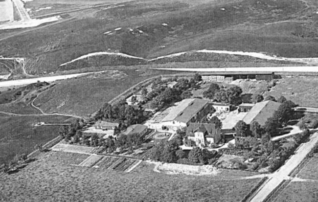 Heinrichshof aus der Luft um 1928